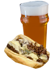 Philly Cheesesteak and Pale Ale
