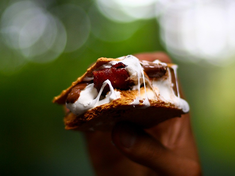 Stout-Infused Marshmallow & Bacon S'mores