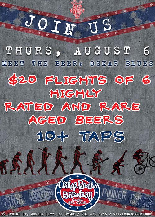 meet the beer oskar blues at the iron monkey