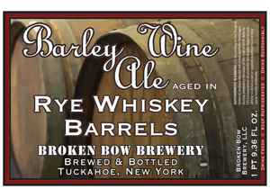 Barley Wine Ale Aged In Rye Whiskey Barrels