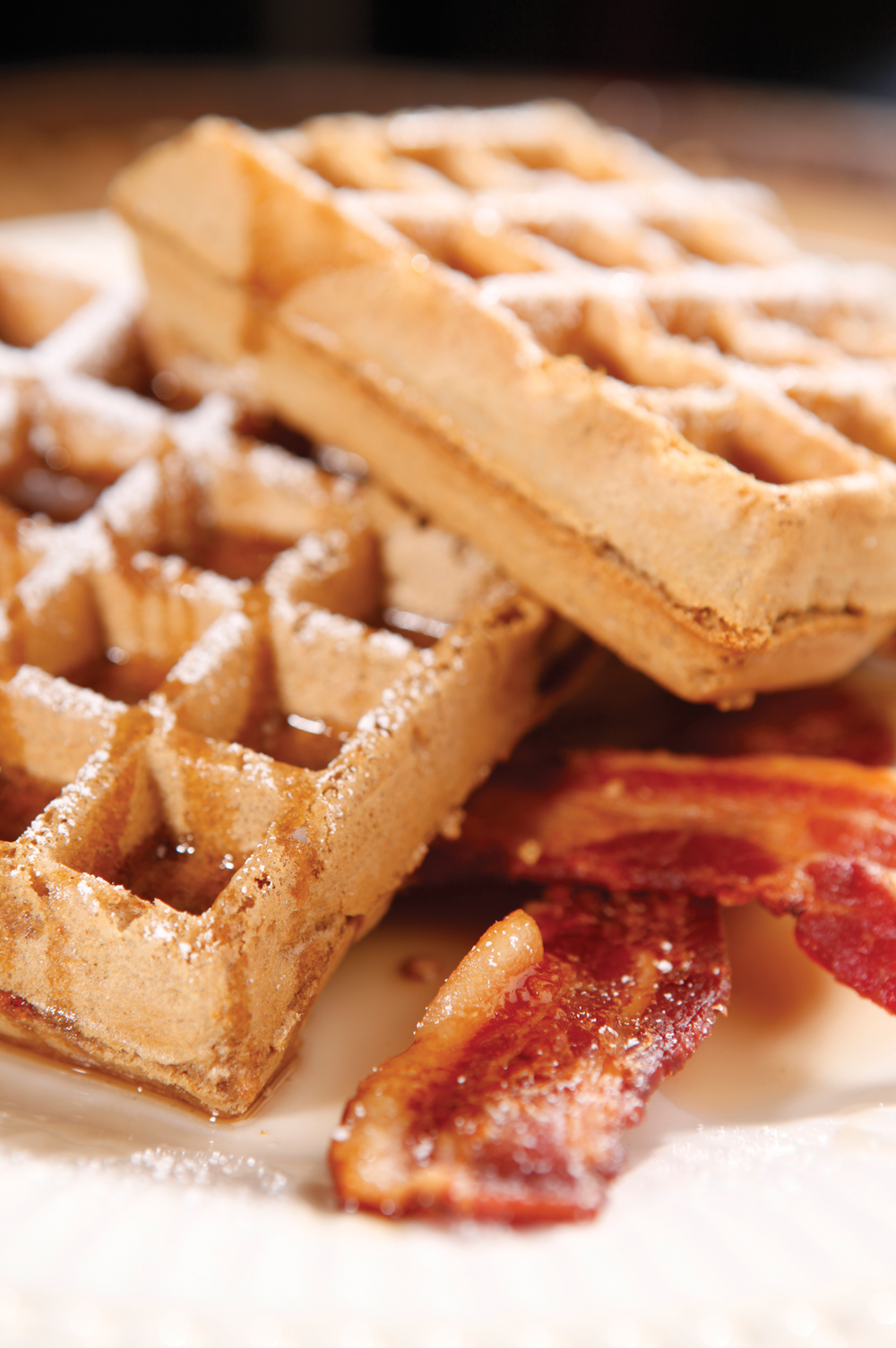 Beer Waffles with Cinnamon-Caramel Apples | CraftBeer.com