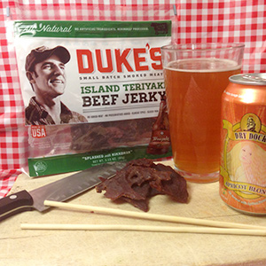 Duke's Island Teriyaki Beef Jerky and Dry Dock Apricot Blonde