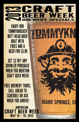 Join Tommyknocker Brewery for American Craft Beer Week!