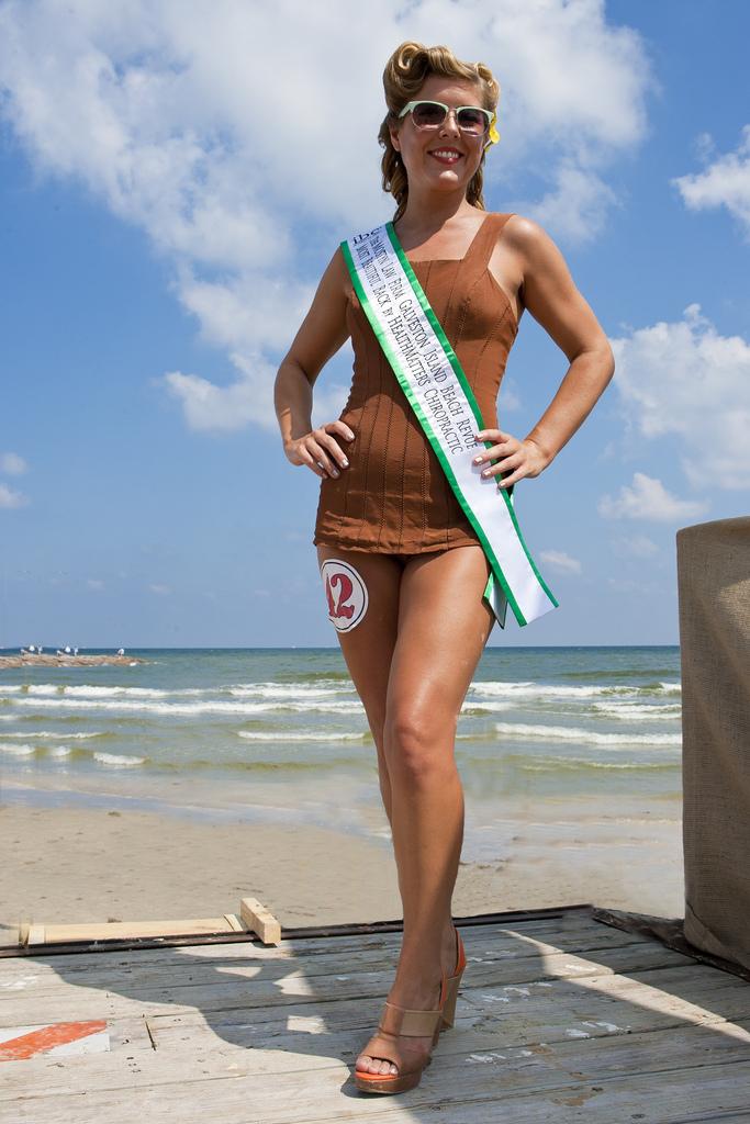 Galveston Beach Revue Bathing Beauty Leslie Thompson