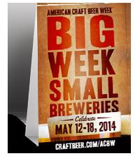 American Craft Beer Week Table Tent