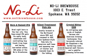 No-Li Breweries three featured beers
