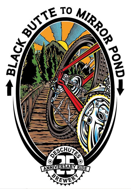 Black Butte to Mirror Pond Logo