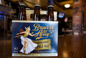 The release of Opera House Pale Ale marks the debut of the Brewer's Alley Girl.