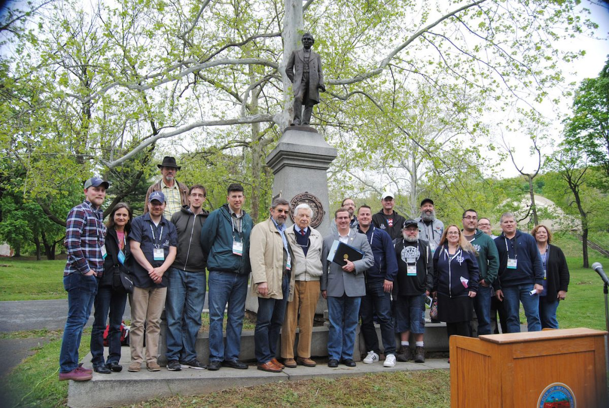 Frederick Lauer memorial rededication ceremony