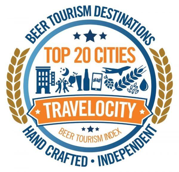 Travelocity Beer Tourism Logo
