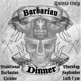 Barbarian Dinner