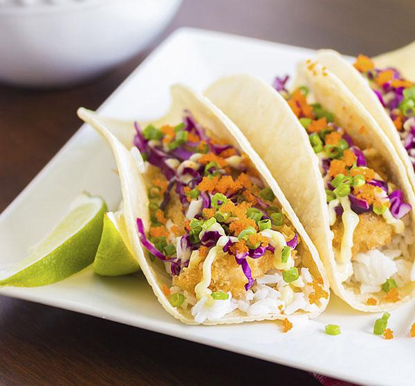 BBaja-Style Mahi Mahi Tacos