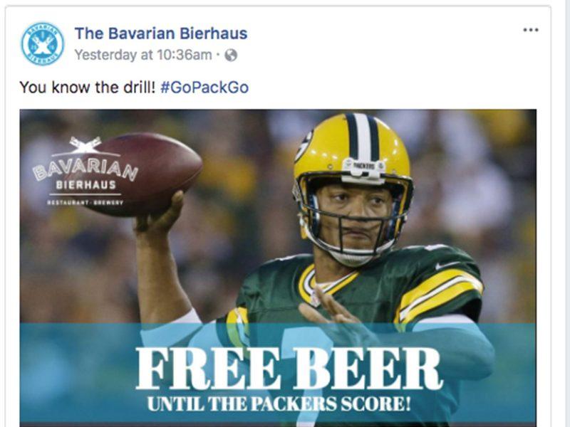 free beer packers lose