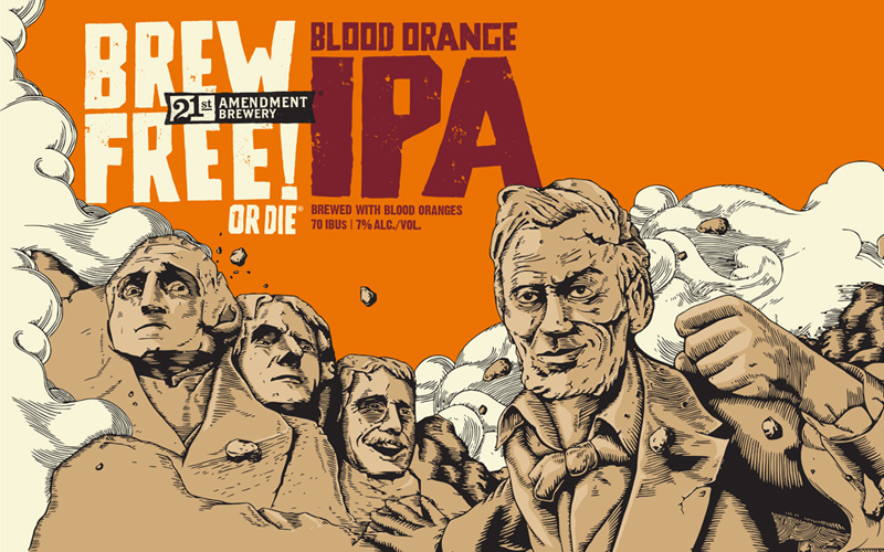 Brew Free Or Die Blood Orange IPA