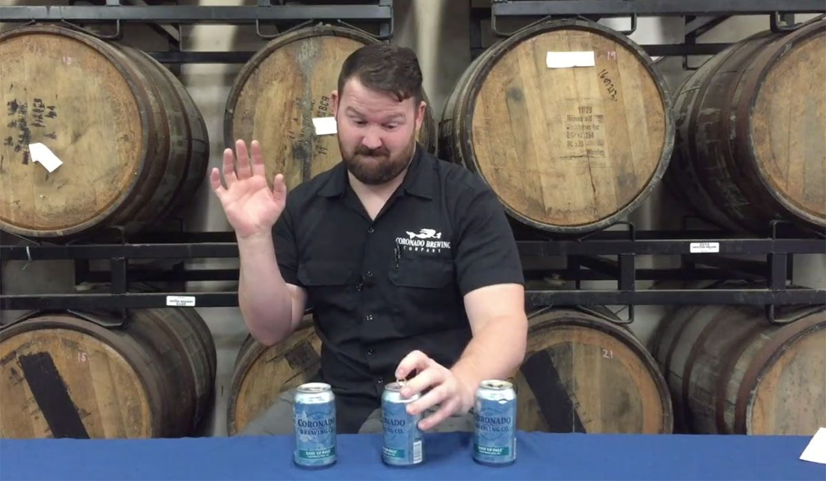 Coronado Lefthand Beer Can April Fool's Day