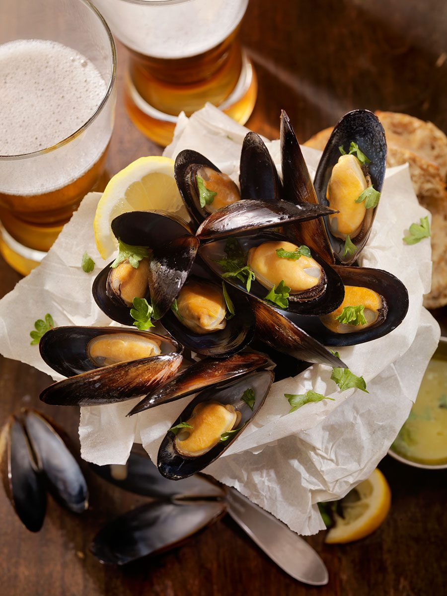 Drunken Pale Ale Mussels