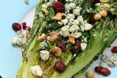 Grilled Romaine with Stout Bacon Vinaigrette