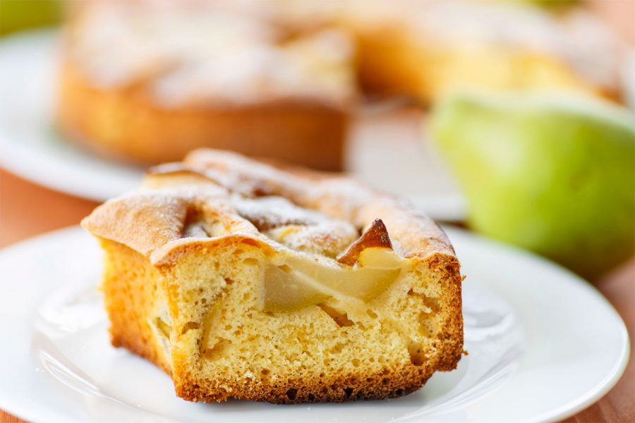 HooDoo Vanilla Porter Quick Bread with Barleywine Poached Pears