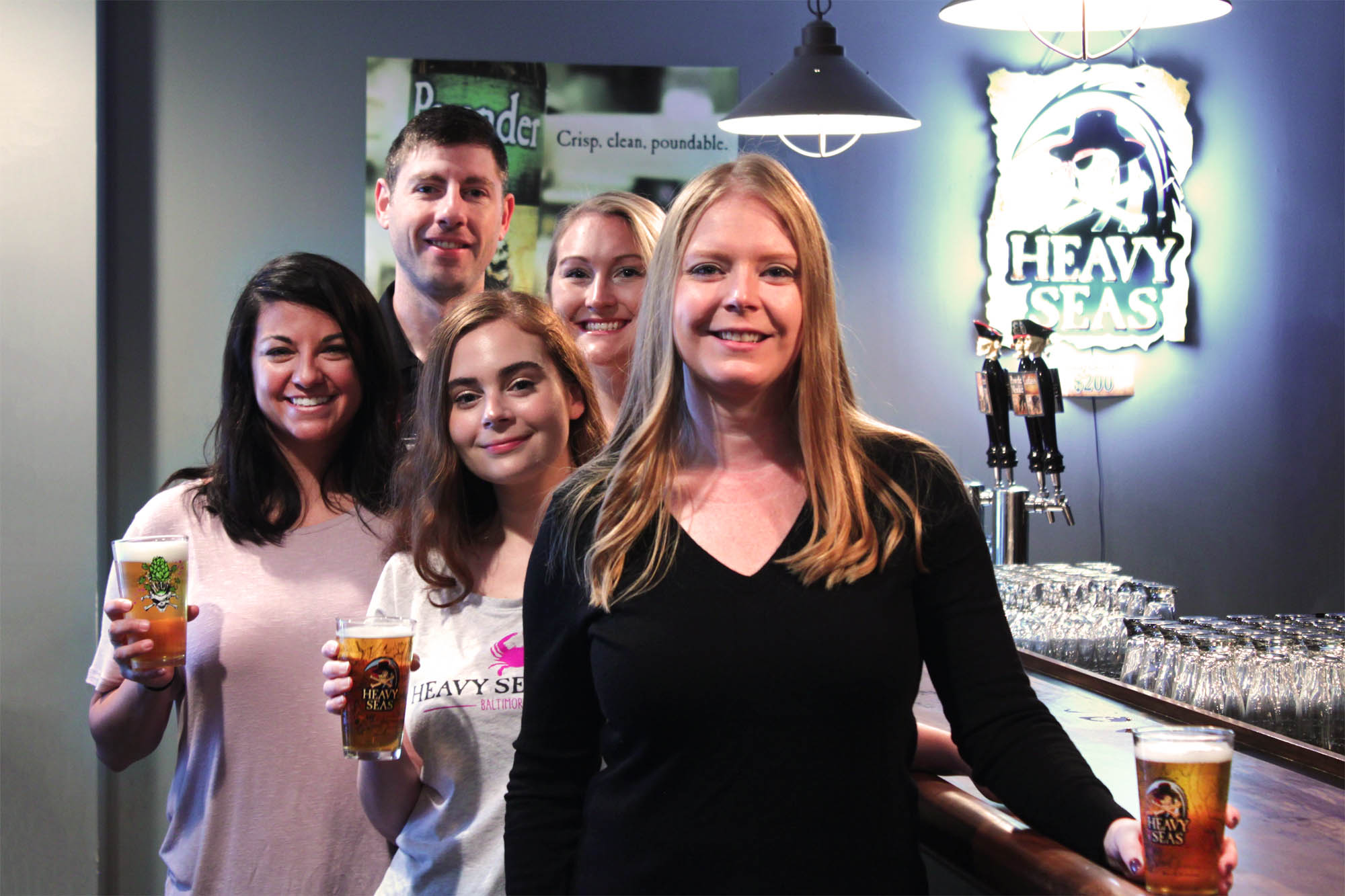 Pictured (left to right, back to front): Tristan Gilbert, Brand Manager; Christine Shaffer, Communications Specialist; Caroline Sisson, Events Coordinator; Amanda Zivkovic, Events Coordinator; Sarah West, Director of Marketing & Hospitality