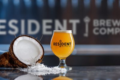 vacation coconut IPA Resident Brewing