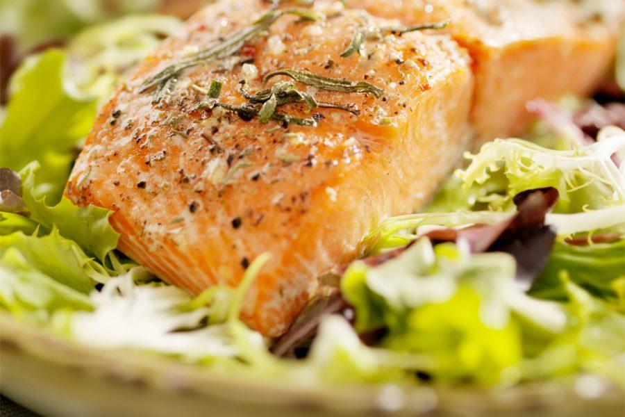 Saison Glazed Salmon Salad