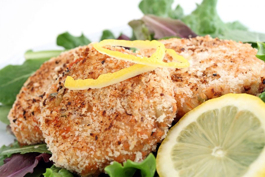 Salmon Cakes with Beer Chutney