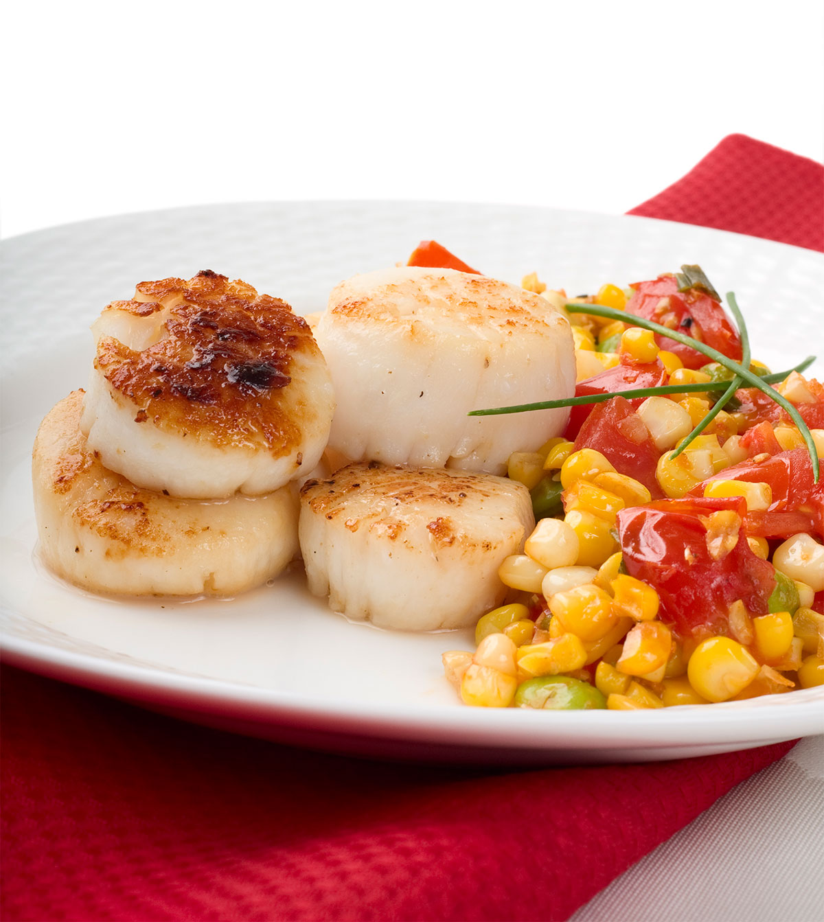 Seared Scallops with Saison Jus and Succotash | CraftBeer.com