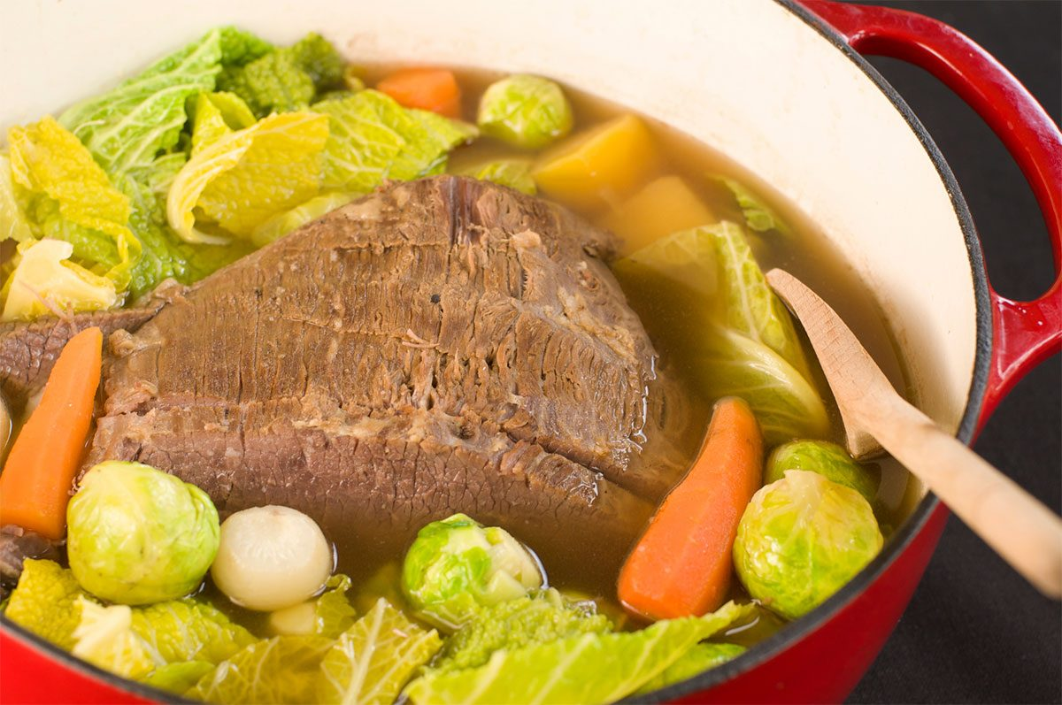 Slow Cooker Corned Beef & Cabbage with Beer