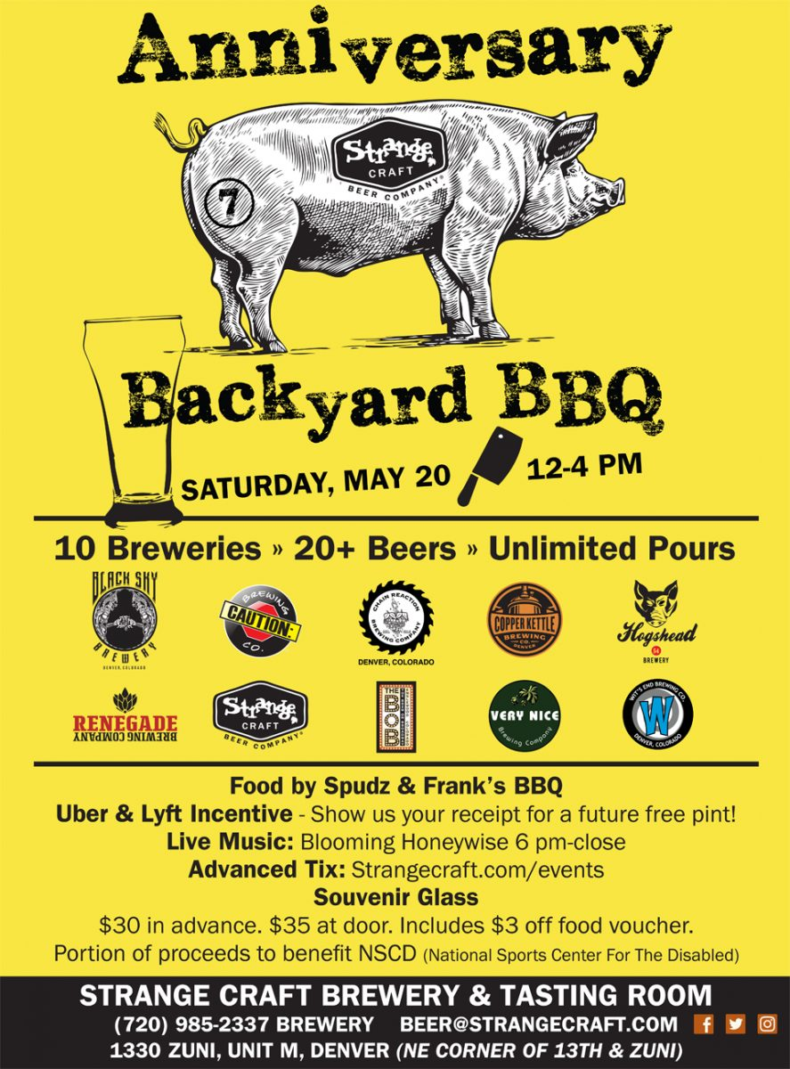 Strange craft 7th anniversary backyard bbq for Strange craft beer company