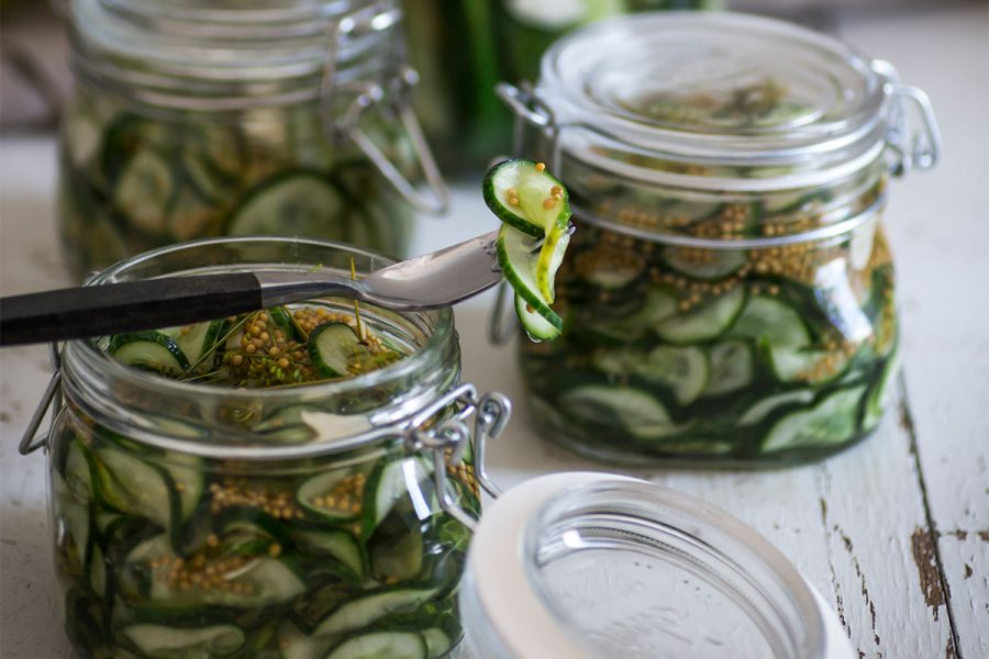 Sweet and Spicy Beer Pickles