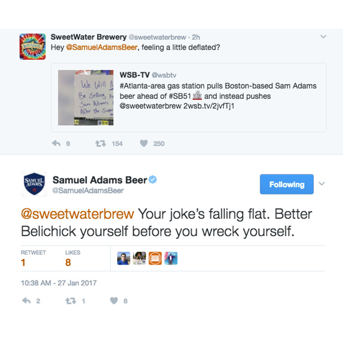 SweetWater Sam Adams Twitter