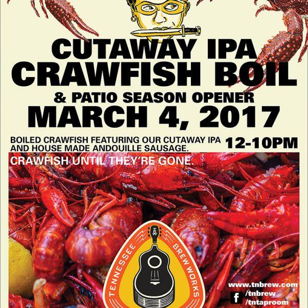 Tennessee Brew Works: Cutaway Crawfish Boil!