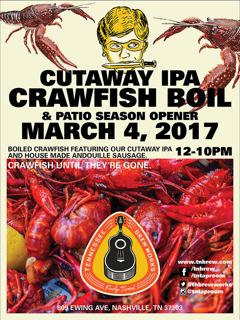 Tennessee Brew Works: Cutaway Crawfish Boil!