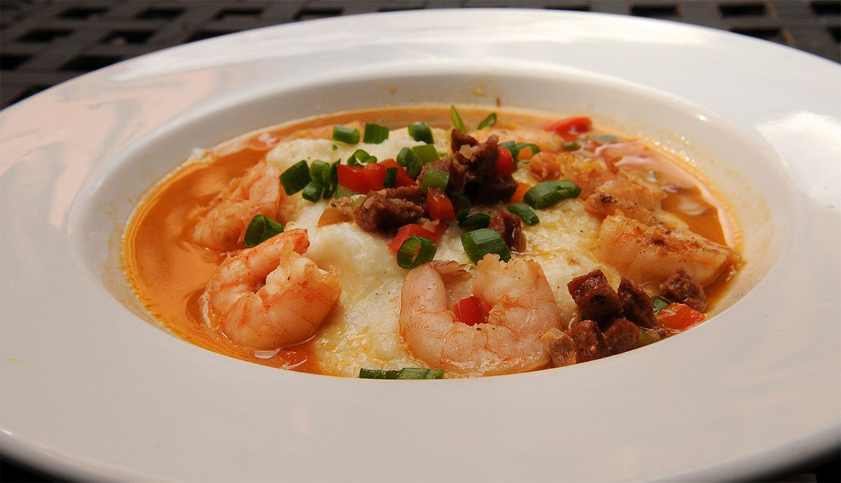 Turbodog Barbecue Shrimp and Grits