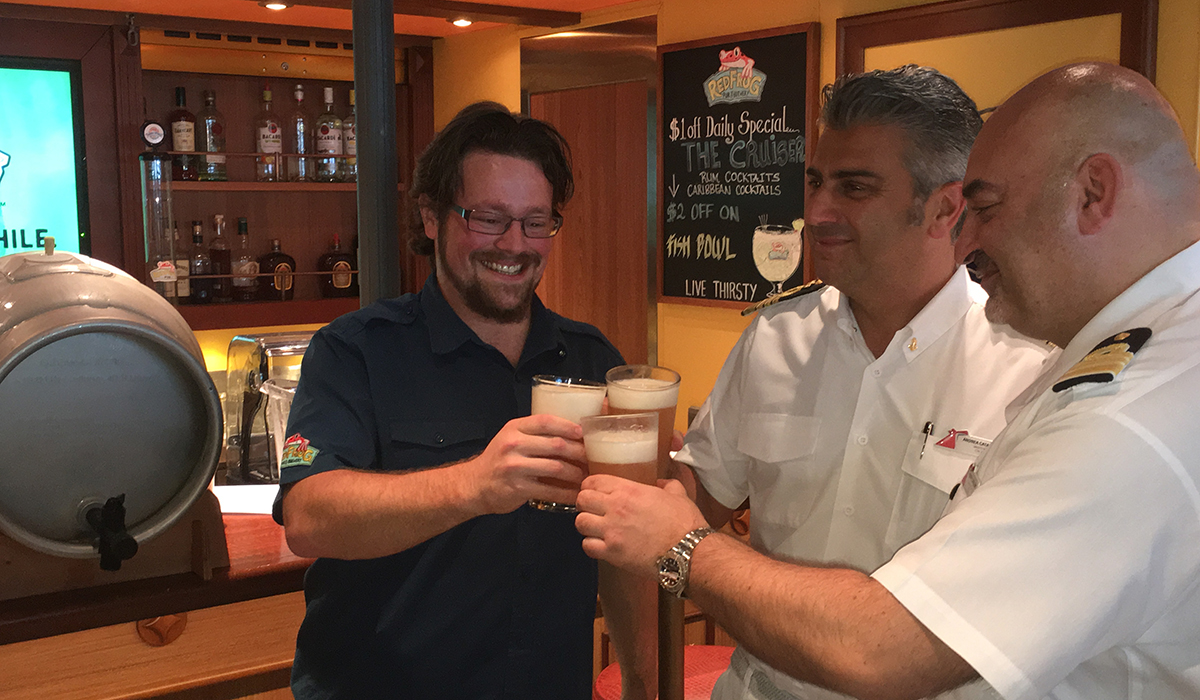 cruise ship craft brewery