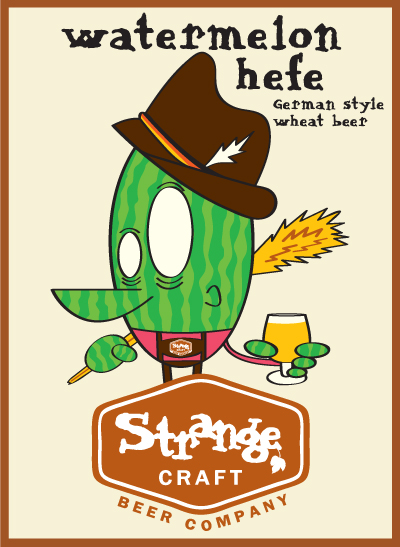 strange craft beer company's watermelon hefe