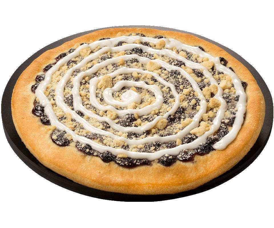 Blueberry Fruit Dessert Pizza