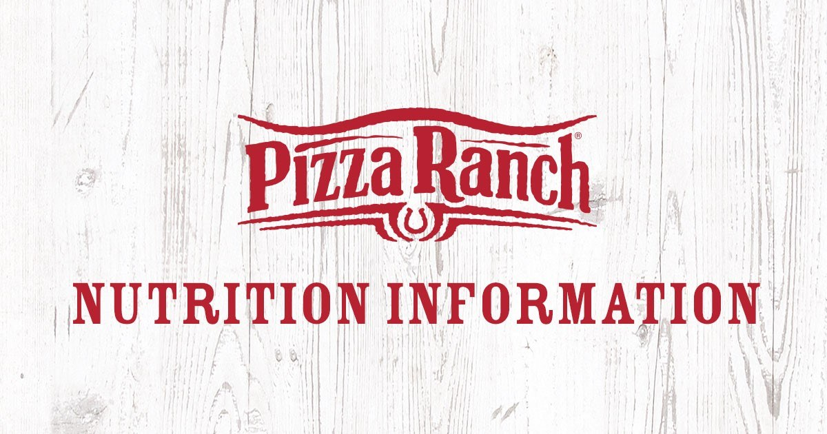 Nutrition And Allergens Pizza Ranch
