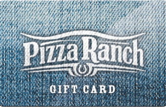 The perfect gift - Pizza Ranch gift cards!