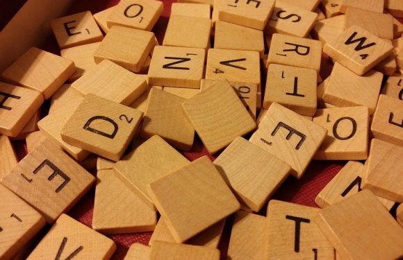 Scrabble Tile letters in a pile