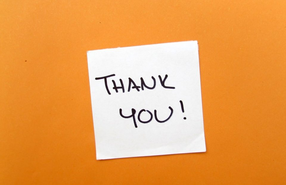 Monday Thank You Note