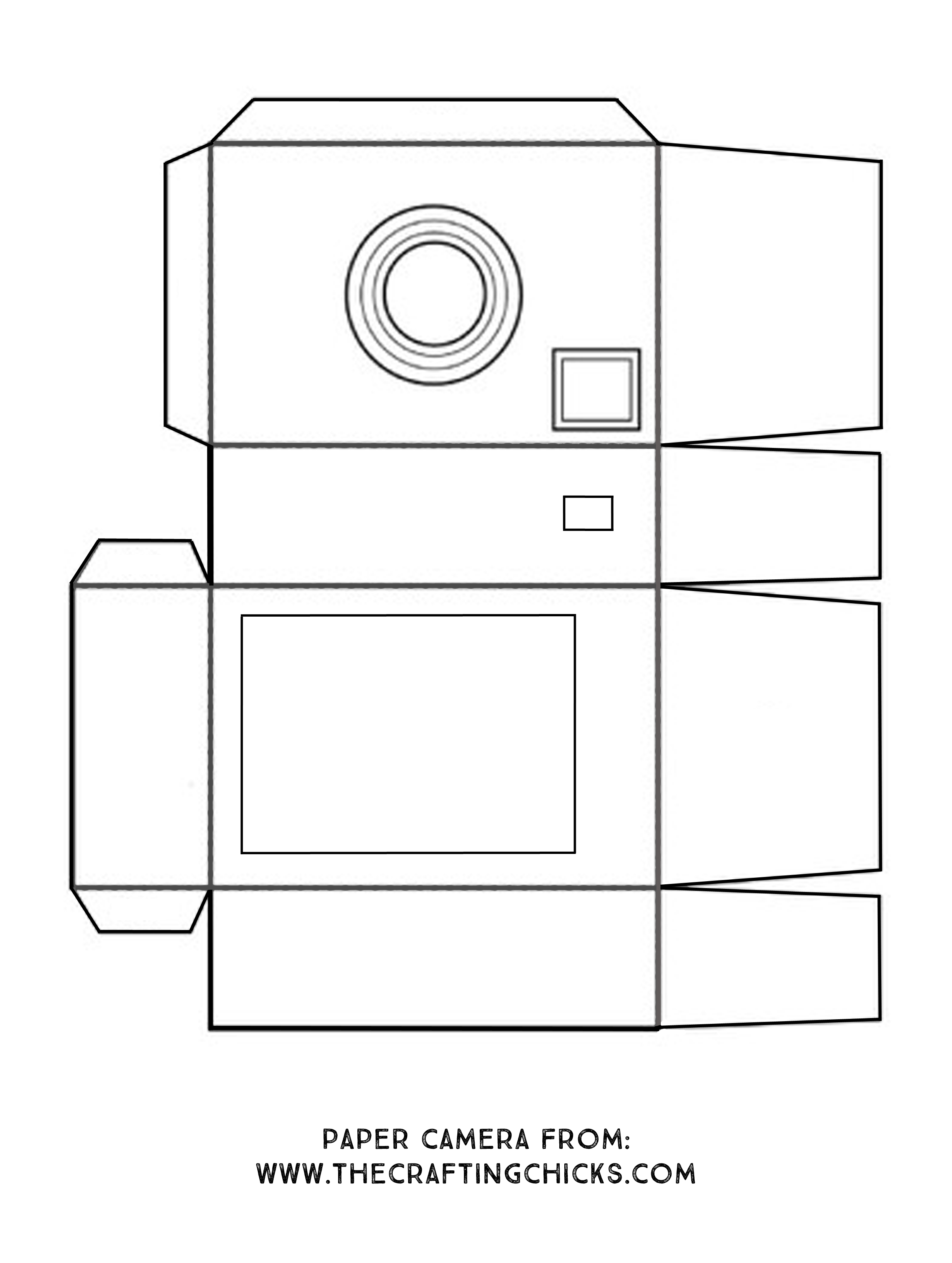 photograph relating to Camera Printable referred to as Do it yourself Paper Digicam for Young children