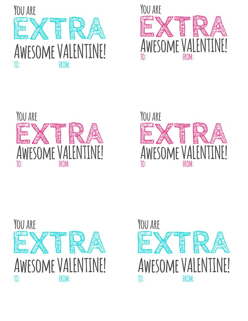 u0026quot extra u0026quot  awesome valentine  u0026 free printable