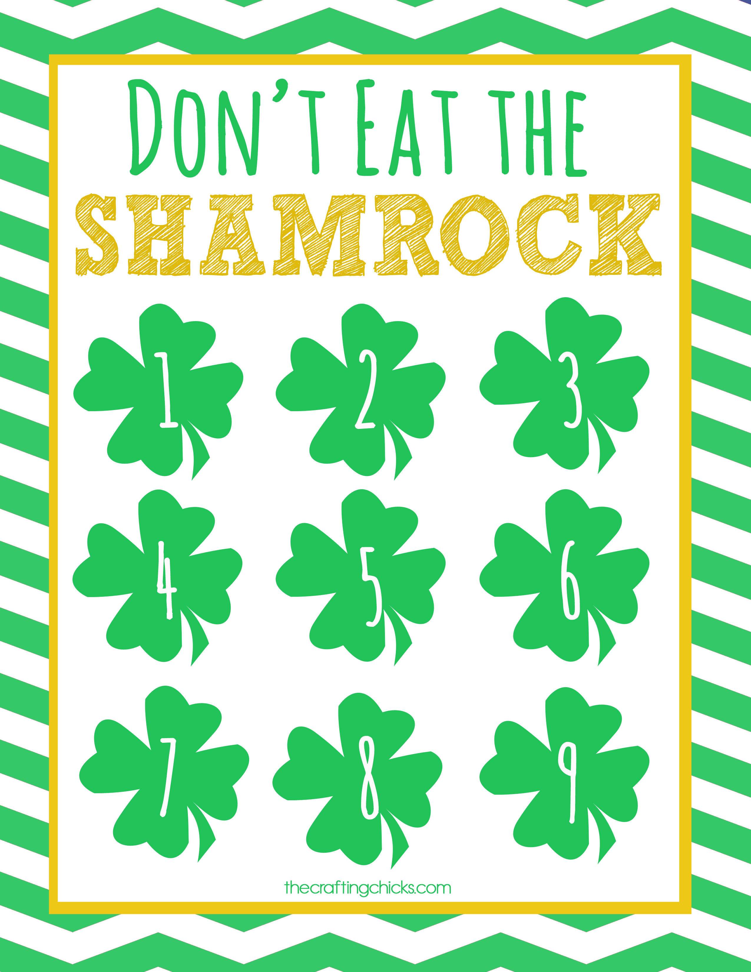 picture about Don T Eat Pete Printable referred to as Dont Try to eat the Shamrock! St. Patricks Working day \