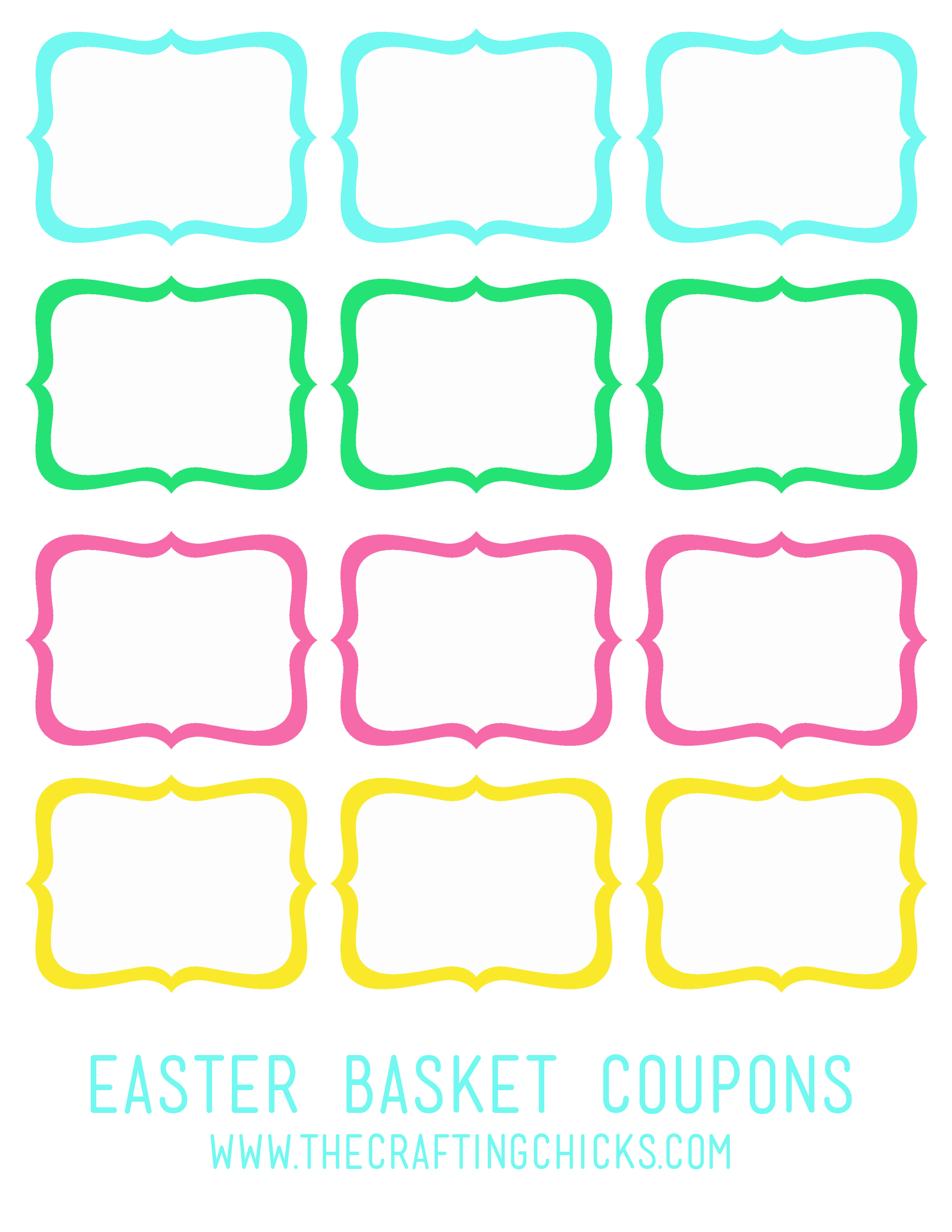personalized coupon book template - a personalized easter basket