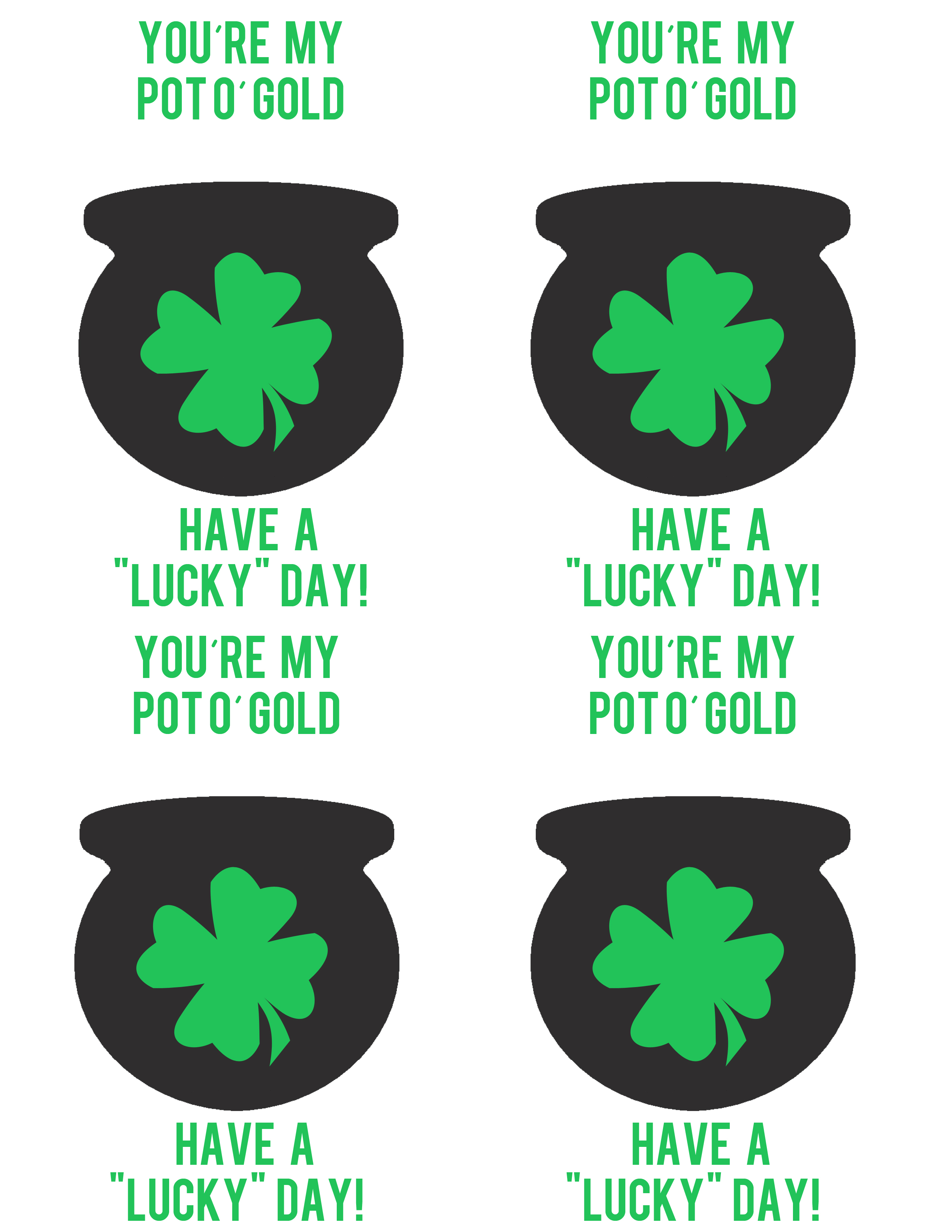 picture relating to Pot of Gold Printable titled Pot of Gold \