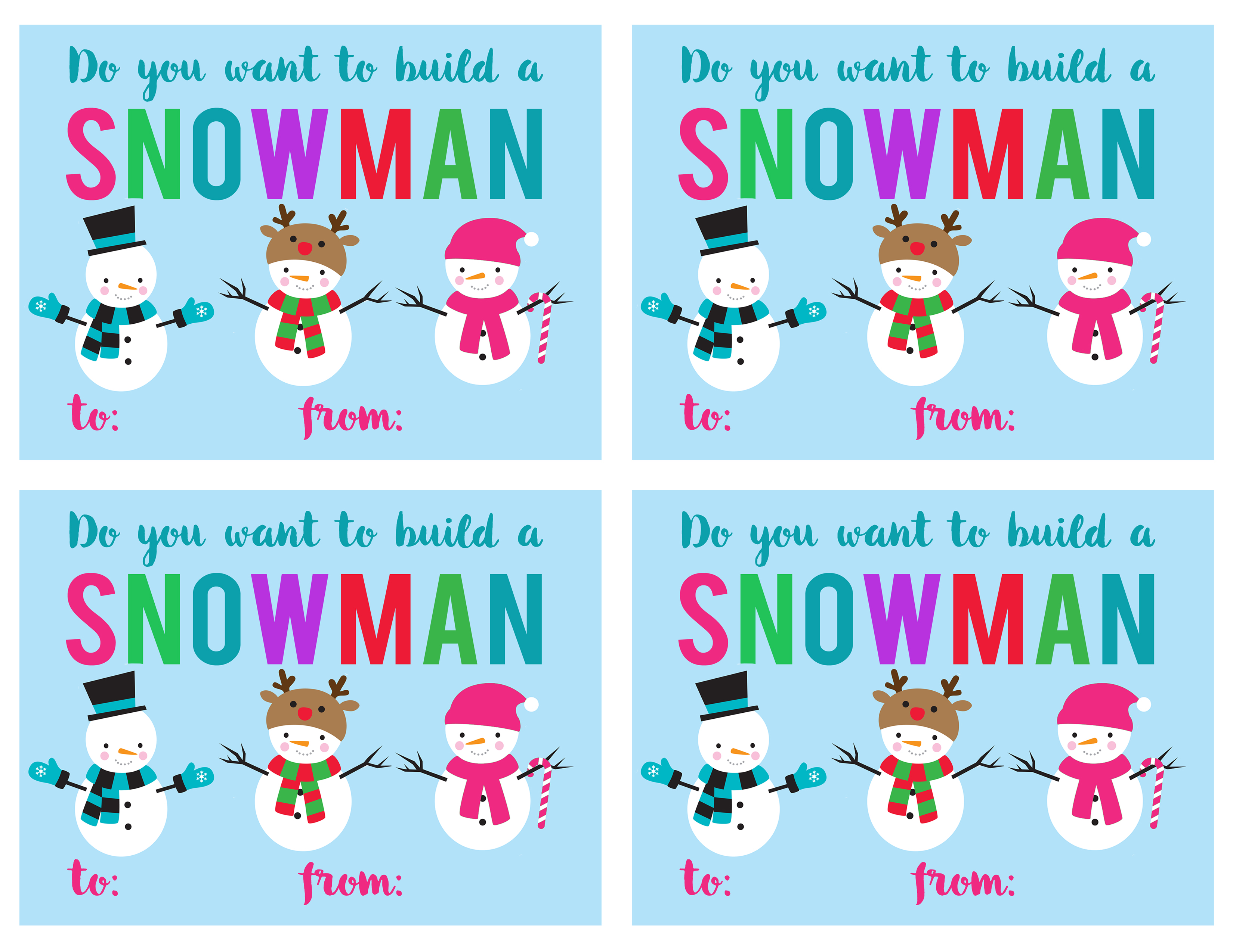 Snowman Gift Idea And Free Printable Tag The Crafting Chicks