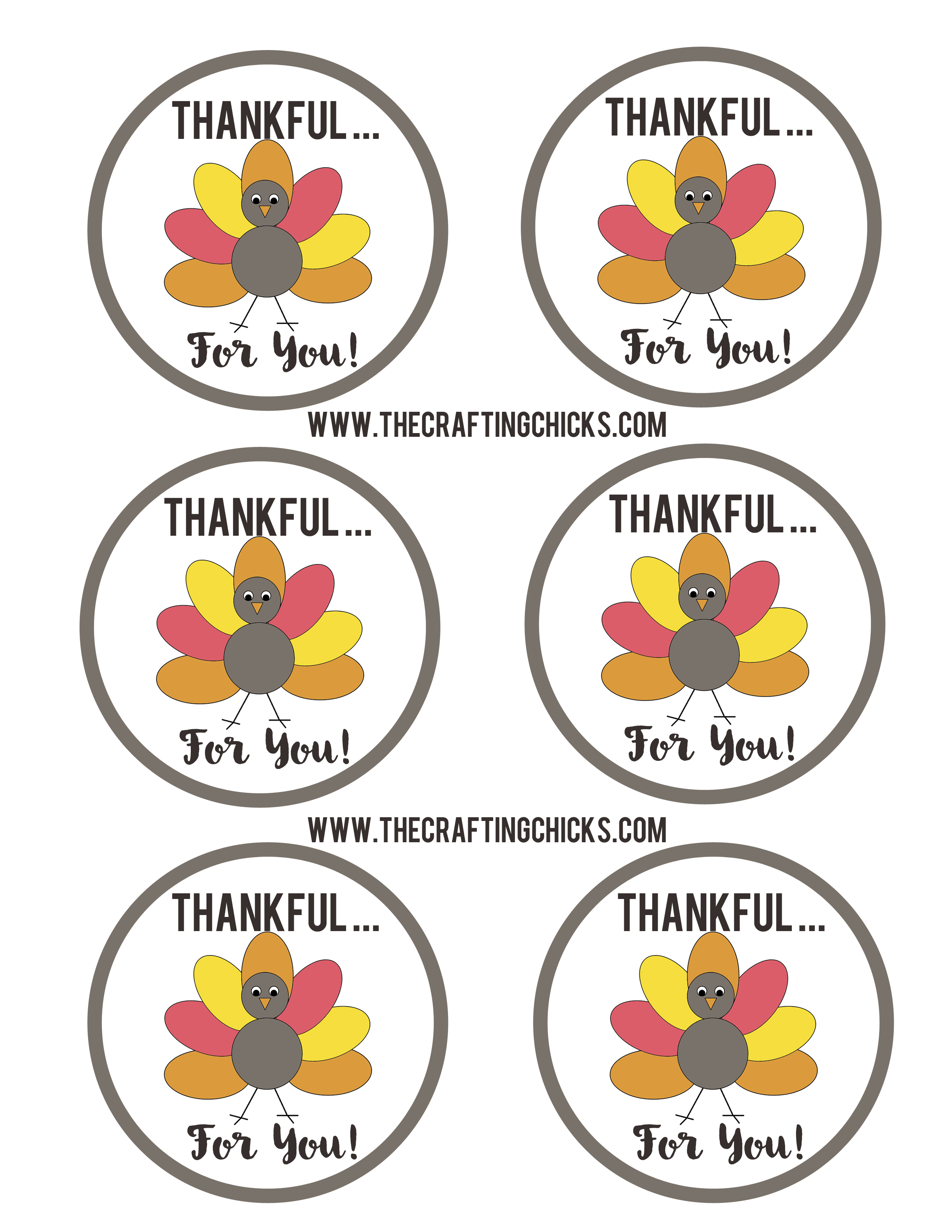 Happy Thanksgiving Sm Thankful Turkey Tags Download Black