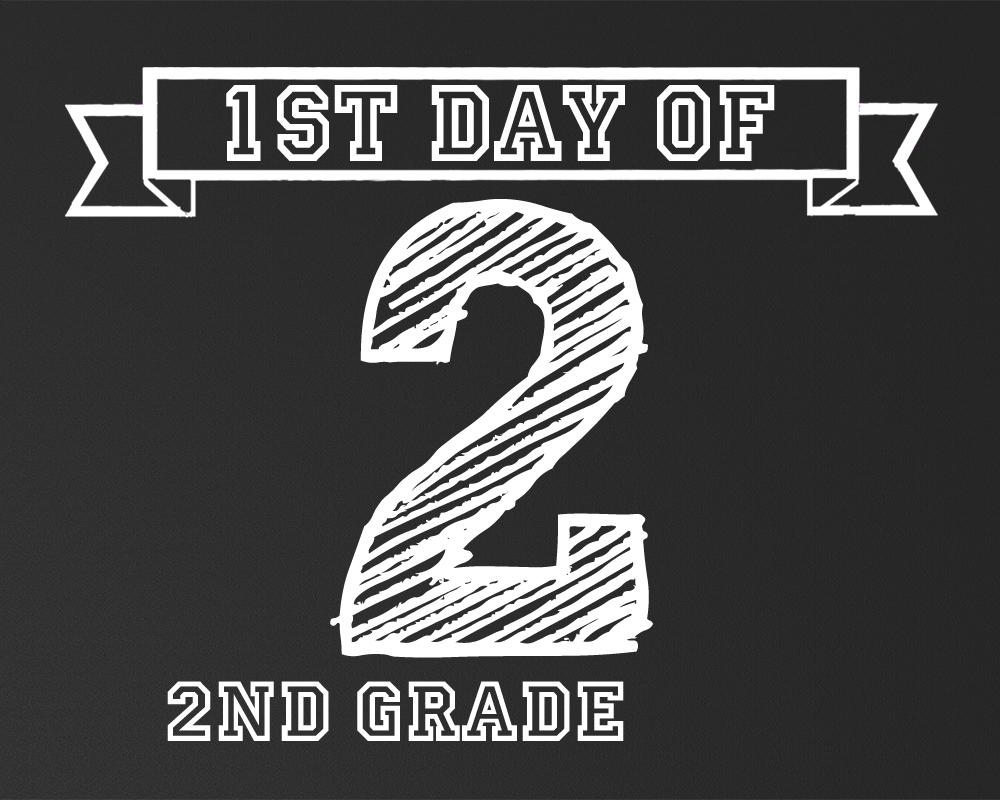 photograph relating to Last Day of 2nd Grade Printable identified as 1st Working day of University Signs or symptoms Free of charge Printables