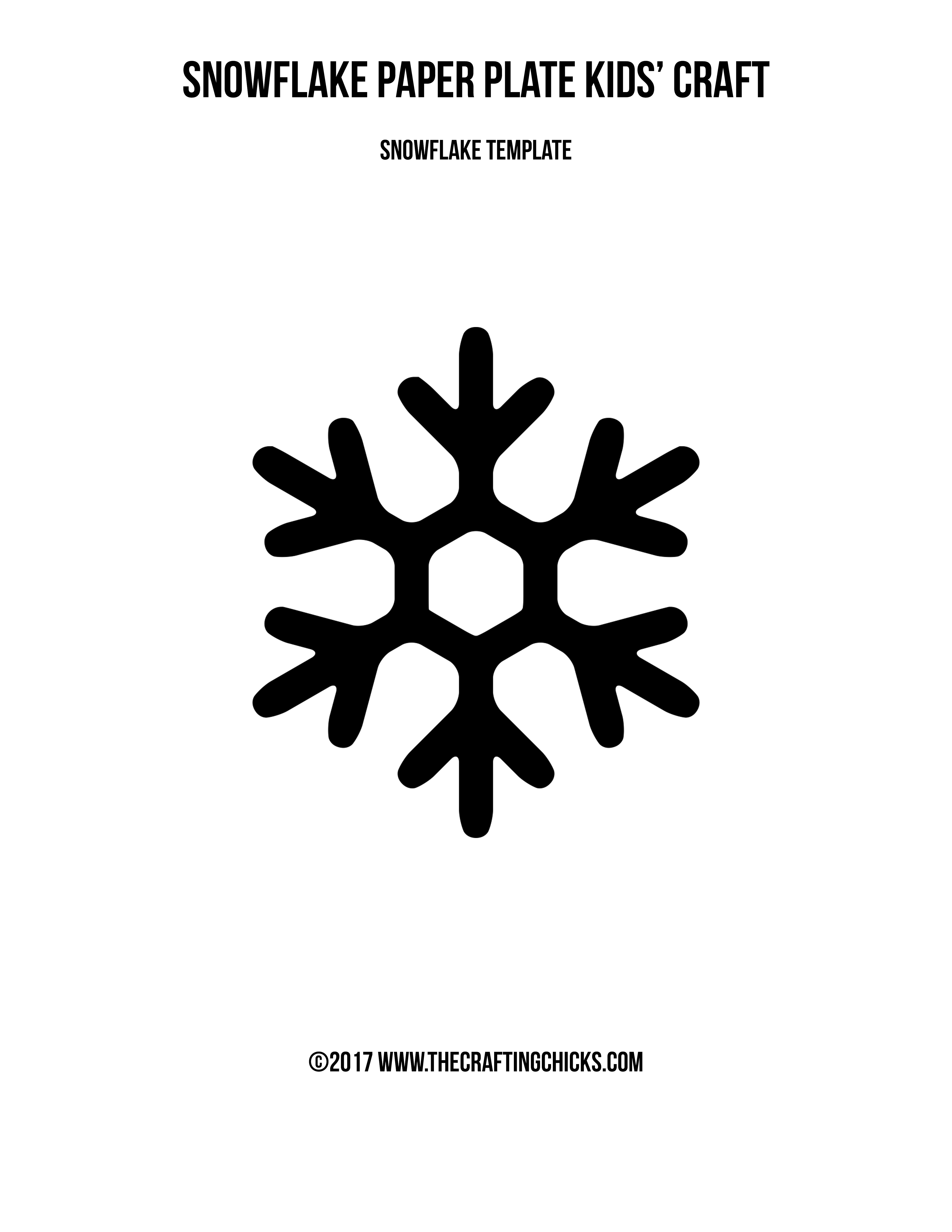 Snowflake Paper Plate Kids\' Craft - The Crafting Chicks